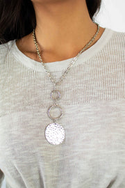 Tiered Disc Pendant Necklace