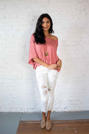 Slouch and About Top Pink