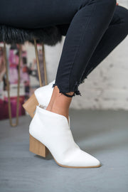 Cut It Out Booties White
