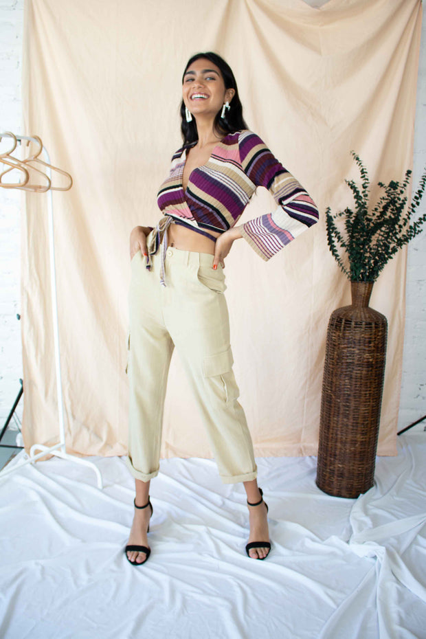 Make an Entrance Striped Crop Top