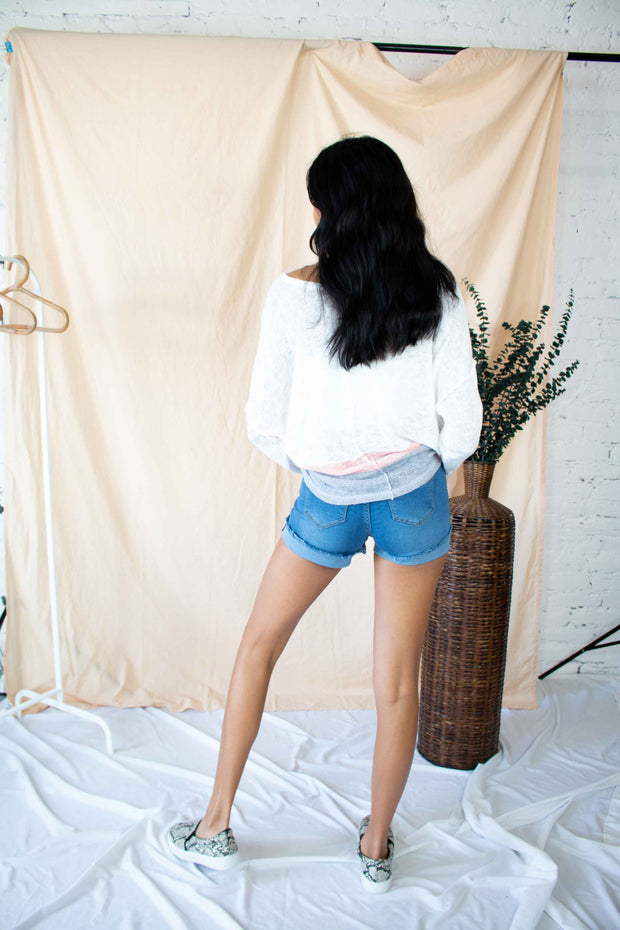 Floating Away Knit Top White