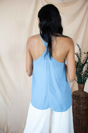 Your Own Luck Tank Top Blue