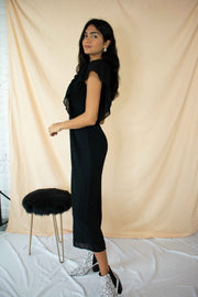 Moving Spots Cropped Jumpsuit Black