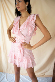 Love On The Weekend Wrap Dress Pink