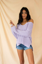 Warm and Toasty Sweater Lavender