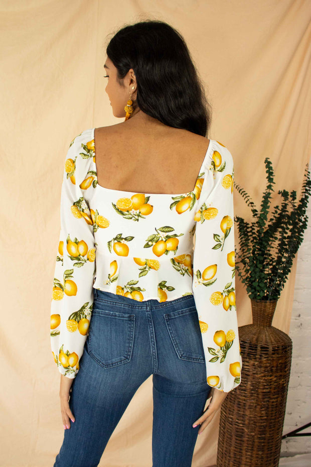 You're The Zest Crop Top White