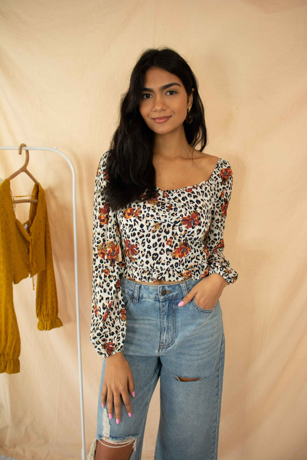 In The Wild Leopard Top