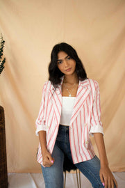 In The System Striped Blazer