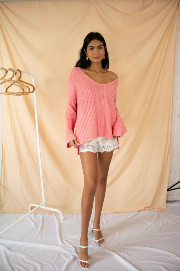 Warm and Toasty Sweater Pink