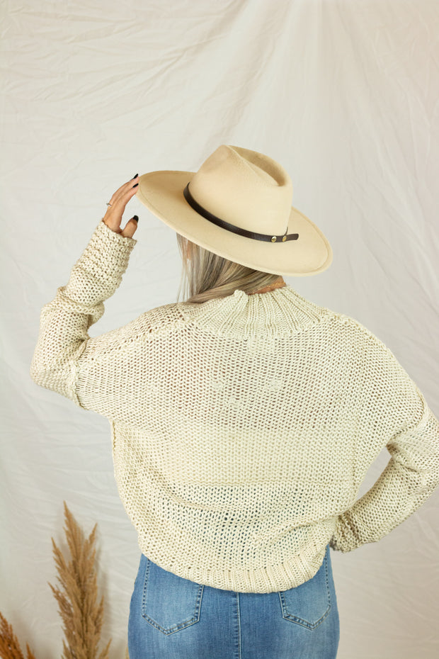 Chilly Evenings Knit Sweater Cream