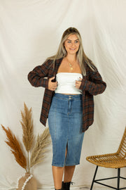 Evan Flannel Top Mocha