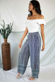 Desert Desires Striped Pants Navy