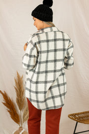Autumn Calling Flannel Shacket Black/White