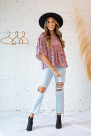 Spot to the Heart Top Blush
