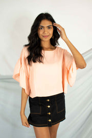 Dash Of Flutter Top Peach