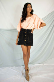 New Classic Denim Skirt Black
