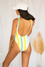 Izzy High Leg One Piece Green