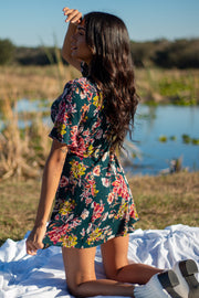 Wildflower Whimsy Mini Dress Green