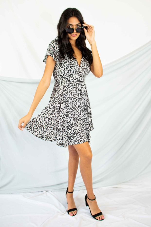 Wild About It Leopard Swing Dress