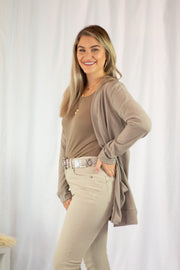Keep You Warm Open Cardigan Taupe