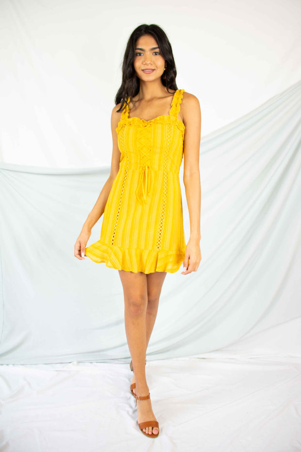 Fresh As A Daisy Dress Mustard