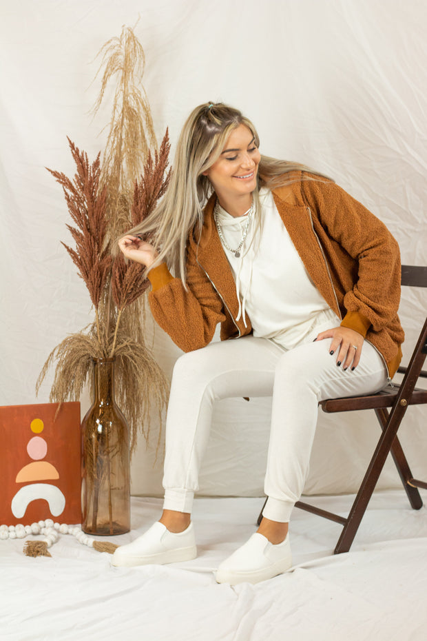 A Soft Touch Teddy Jacket Camel