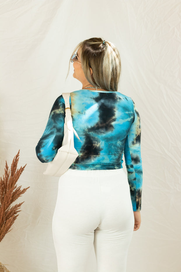 Just What Unique Tie Dye Crop Top