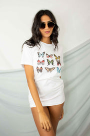 Butterfly Graphic Tee White