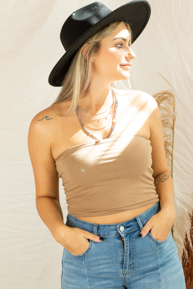 All In One Tube Top Taupe