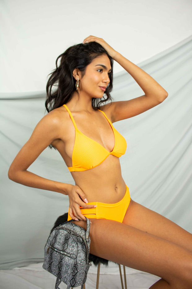 Cut and Sun Bikini Bottom Orange