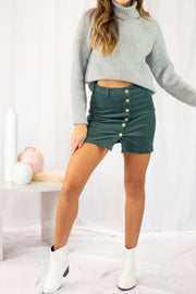 Instant Hit Mini Skirt Green