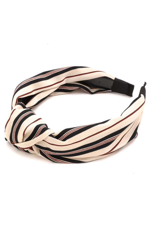 Cream Striped Headband
