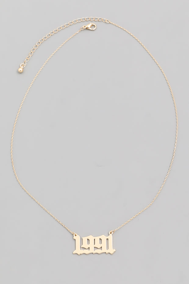 Year 1991 Necklace Gold
