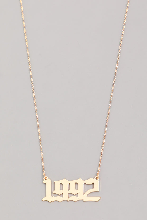 Year 1992 Necklace Gold