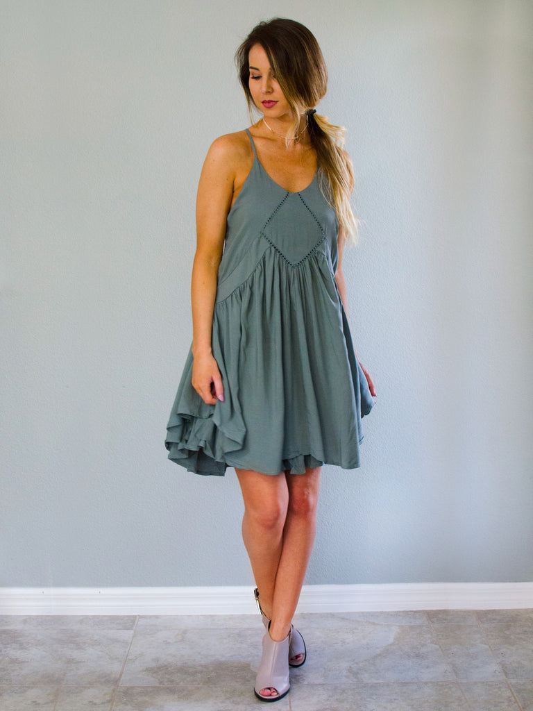Woodstock Dress Sage - Shellsea