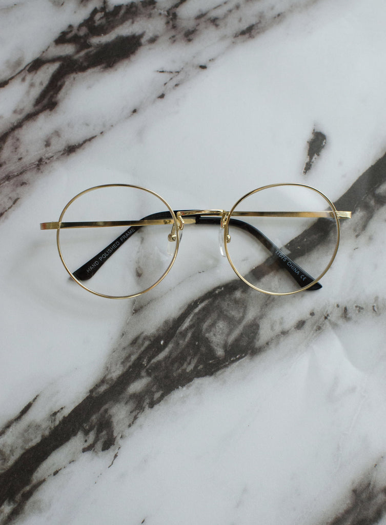 Retro Clear Lens Glasses - Shellsea
