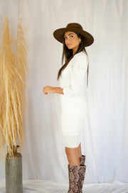 Hold Me Close Overlay Dress White