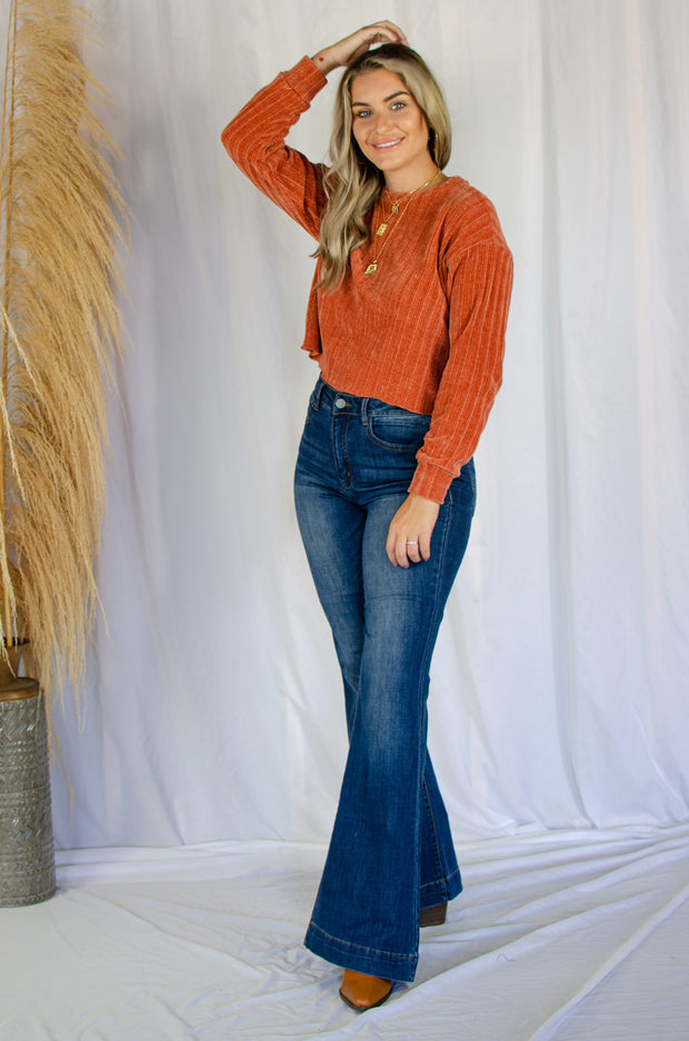 Touch and Go Chenille Top Rust