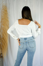 Sunday Morning Crop Top Ivory
