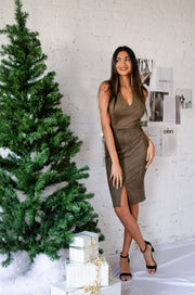 One Suede Or Another Dress Olive