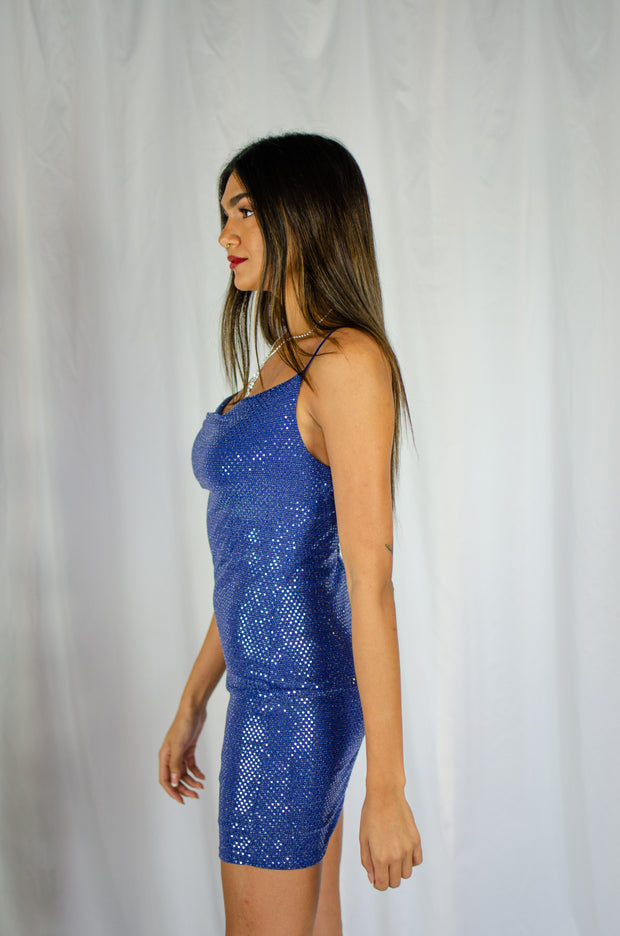 Shimmering Showstopper Dress Blue