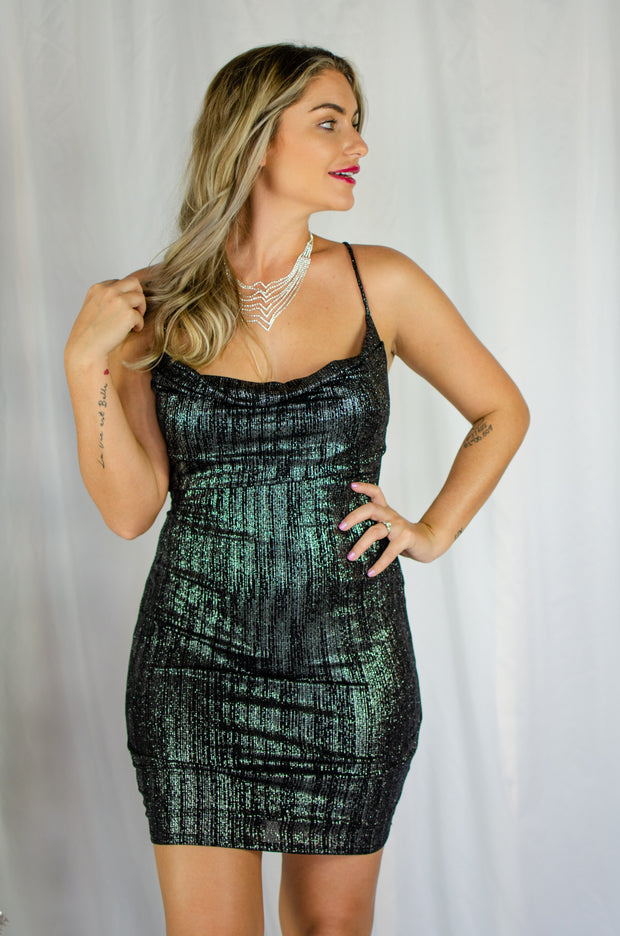 Shine at Night Dress Black