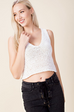 Bentley Knit Crop Tank White - Shellsea