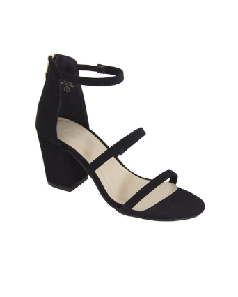 Tap Into Strappy Heel Black