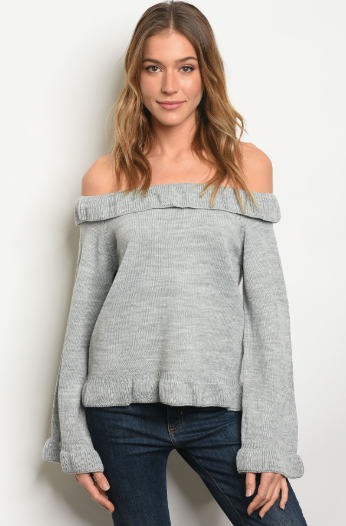 All Cuddled Up Sweater Gray - Shellsea
