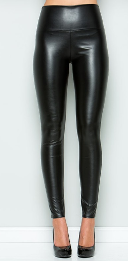 Run The Party Leather Leggings