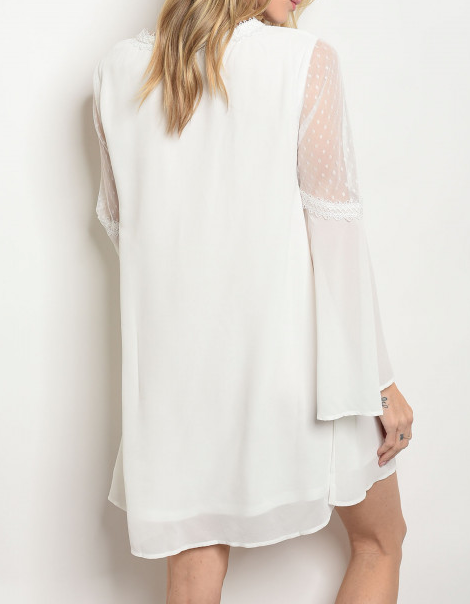 Glow With The Flow Dress White