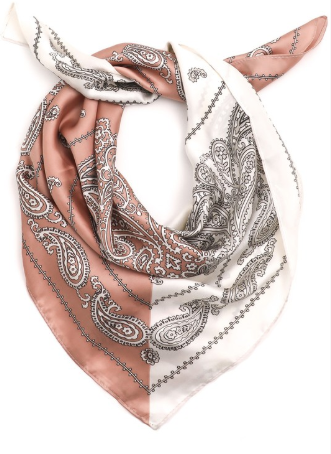 Two Toned Print Scarf