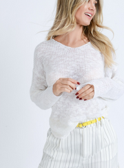 Never Been Twist Sweater Ivory