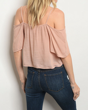 Open Opportunity Crop Top Blush